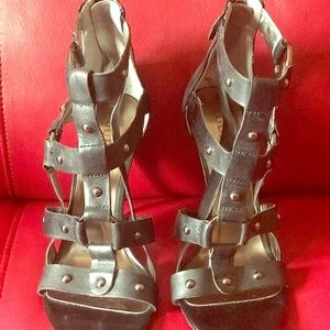 Shoes - Guess black gladiator/strappy  heel